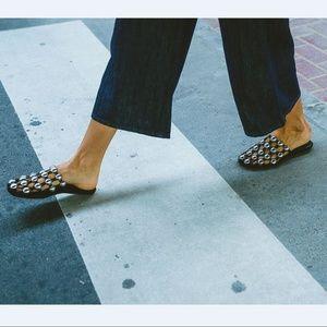 $595+💟Alexander Amelia Studded Slide Sandal Mules